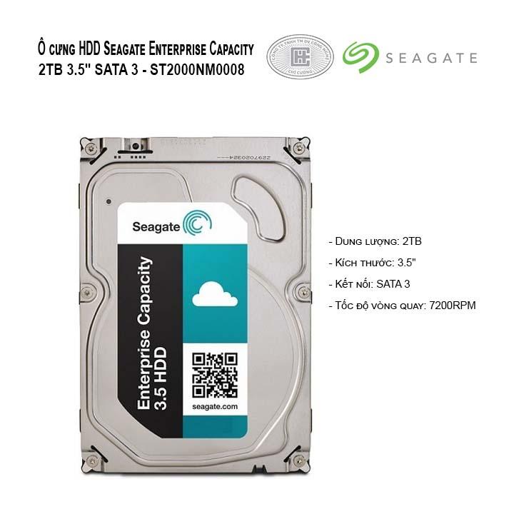 HDD SEAGATE ENTERPRISE CAPACITY 2TB SAS 3.5 - ST2000NM0008