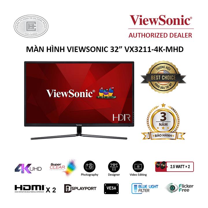 Màn Hình ViewSonic VX3211-4K-MHD (32