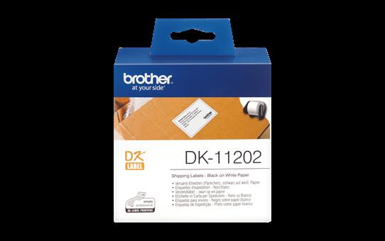 Nhãn in Brother DK11202 ( 62mm x 100mm x 300 nhãn , Black on White )