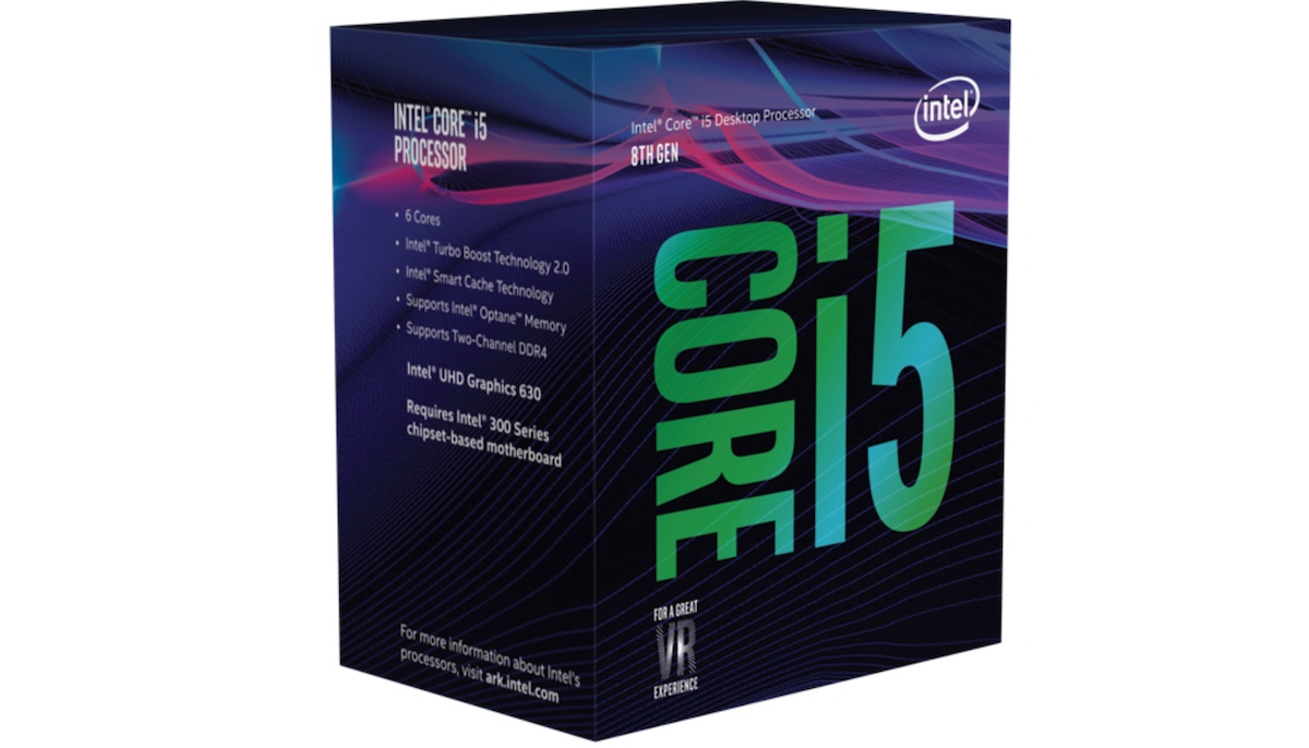 CPU Intel Core i5 8600 Coffee Lake 3.1 GHz Turbo Up to 4.3 GHz - 6 Cores 6 Threads - Socket 1151 v2
