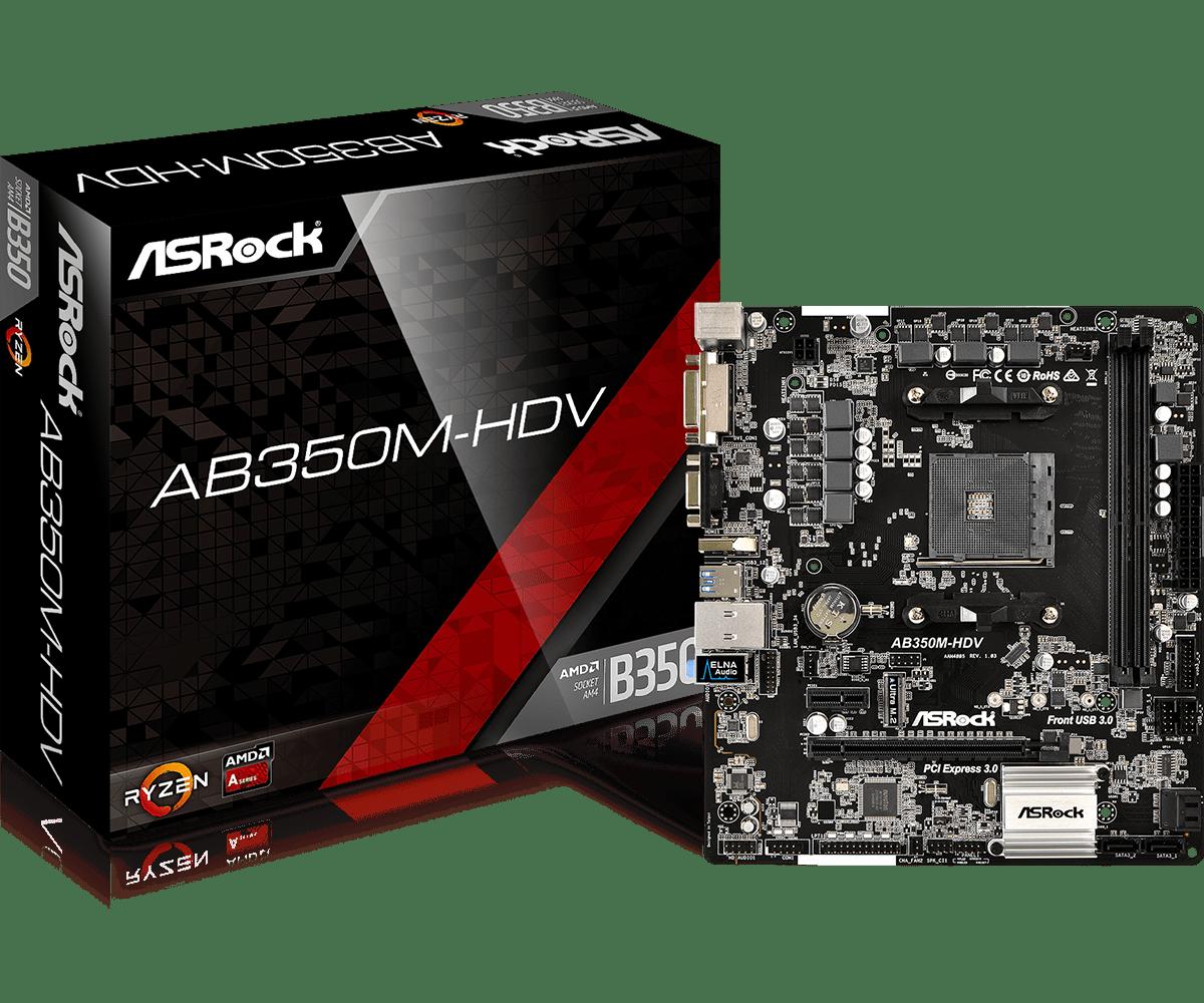 Main Asrock AB350M-HDV socket AM4