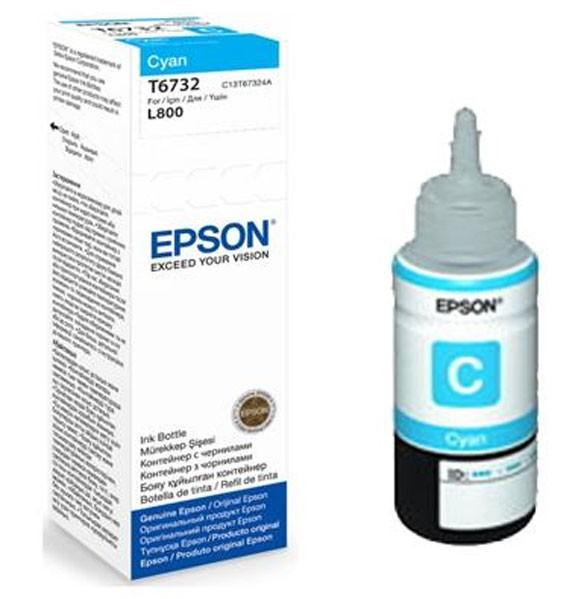 MỰC IN EPSON - C13T673200 CYAN - MÁY SỬ DỤNG: L800