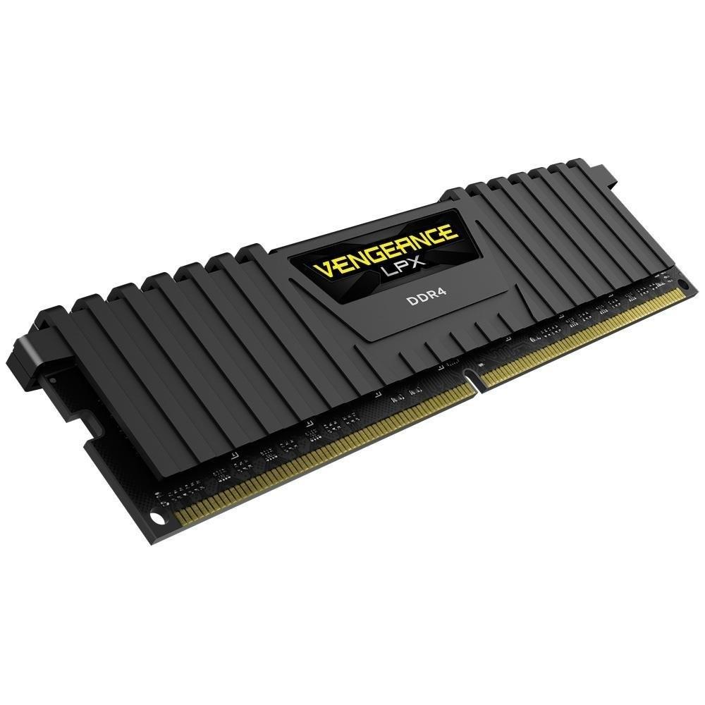 RAM CORSAIR PC DDR4 16GB Bus 2400 - CMK16GX4M1A2400C14 - MODEL VENGEANCE LPX