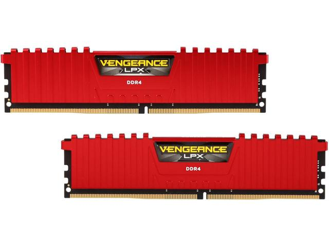 RAM CORSAIR PC DDR4 16GB Bus 2400 ( 8GB * 2 ) CMK16GX4M2A2400C14R - RED