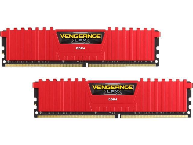 RAM CORSAIR PC DDR4 8GB Bus 2133 ( 4gb * 2) - CMK8GX4M2A2133C13R - RED