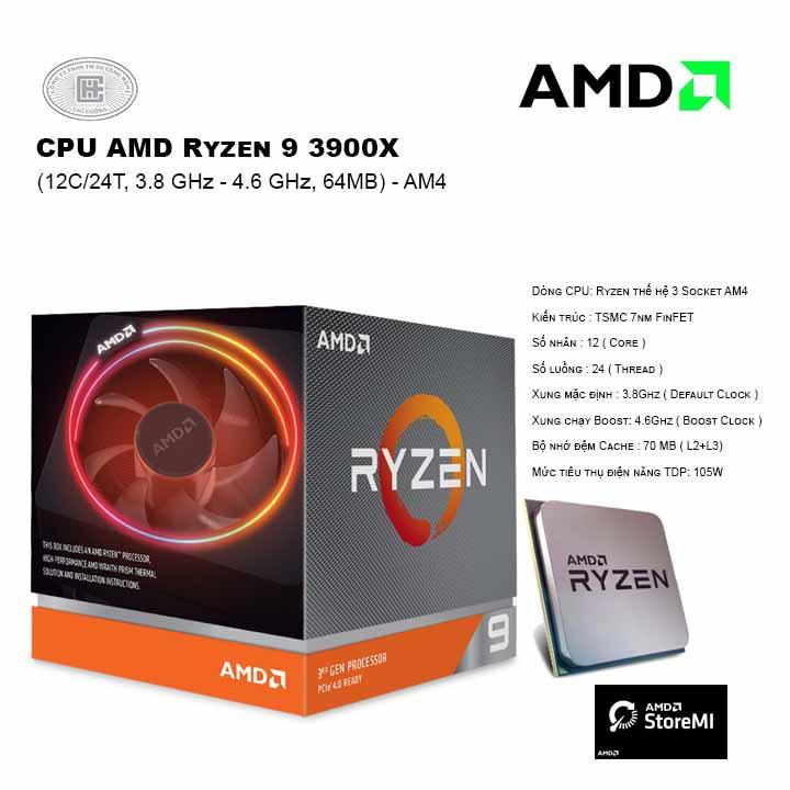 CPU AMD Ryzen 9 3900X