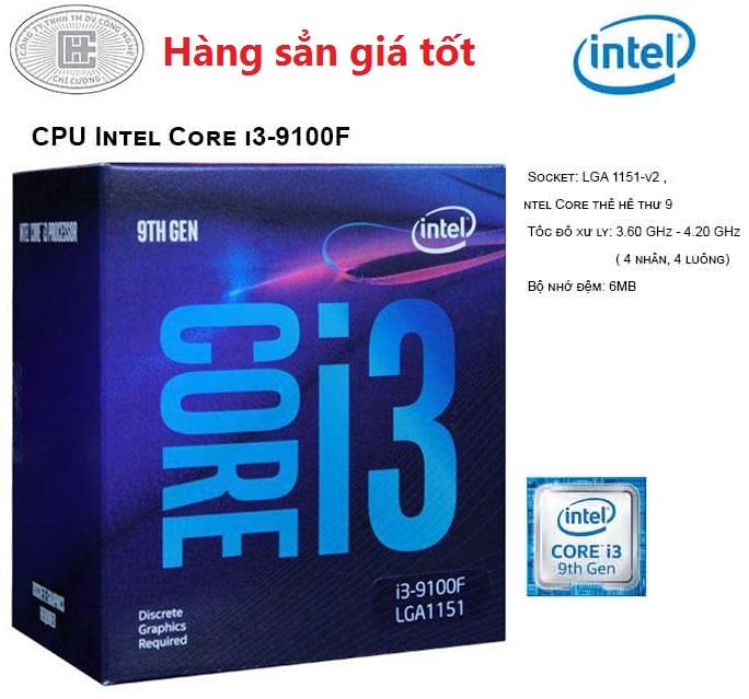 CPU Intel Core i3-9100F (4C/4T, 3.60 GHz - 4.20 GHz, 6MB) - LGA 1151-v2