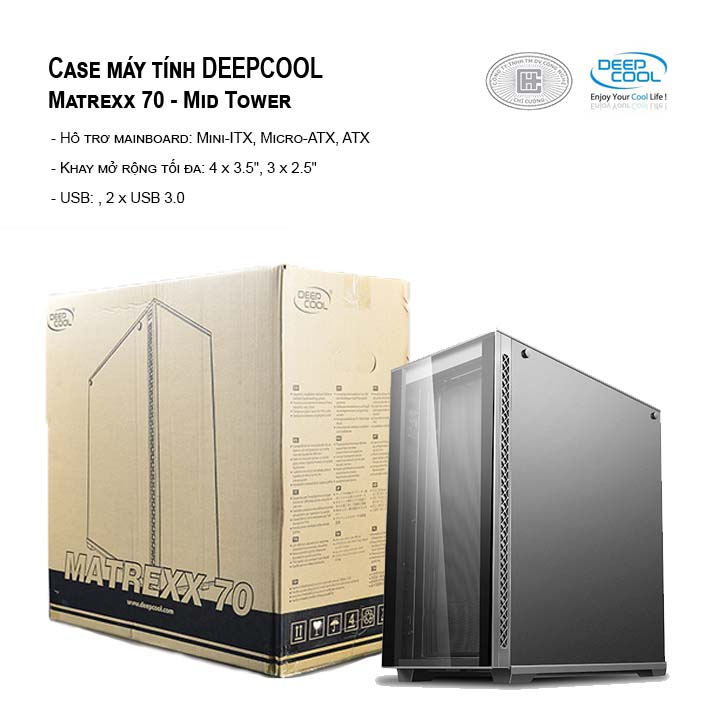 Case máy tính DEEPCOOL Matrexx 70 - Mid Tower