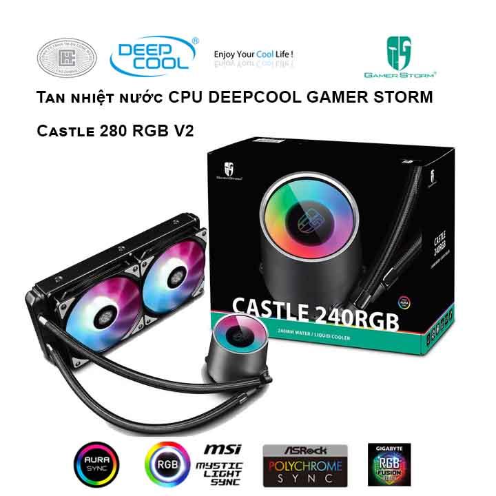 Tản nhiệt nước cho CPU DEEPCOOL Castle 240 RGB V2
