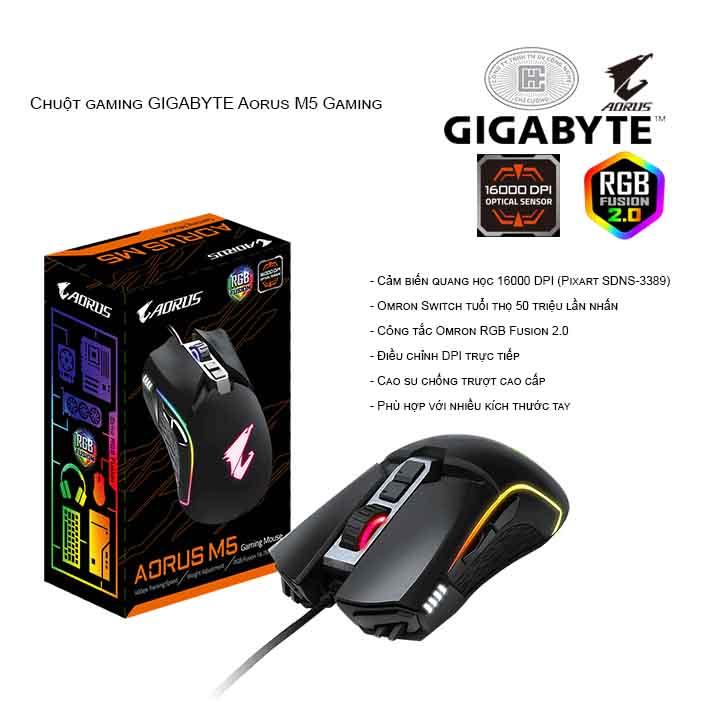 Chuột gaming GIGABYTE Aorus M5 Gaming