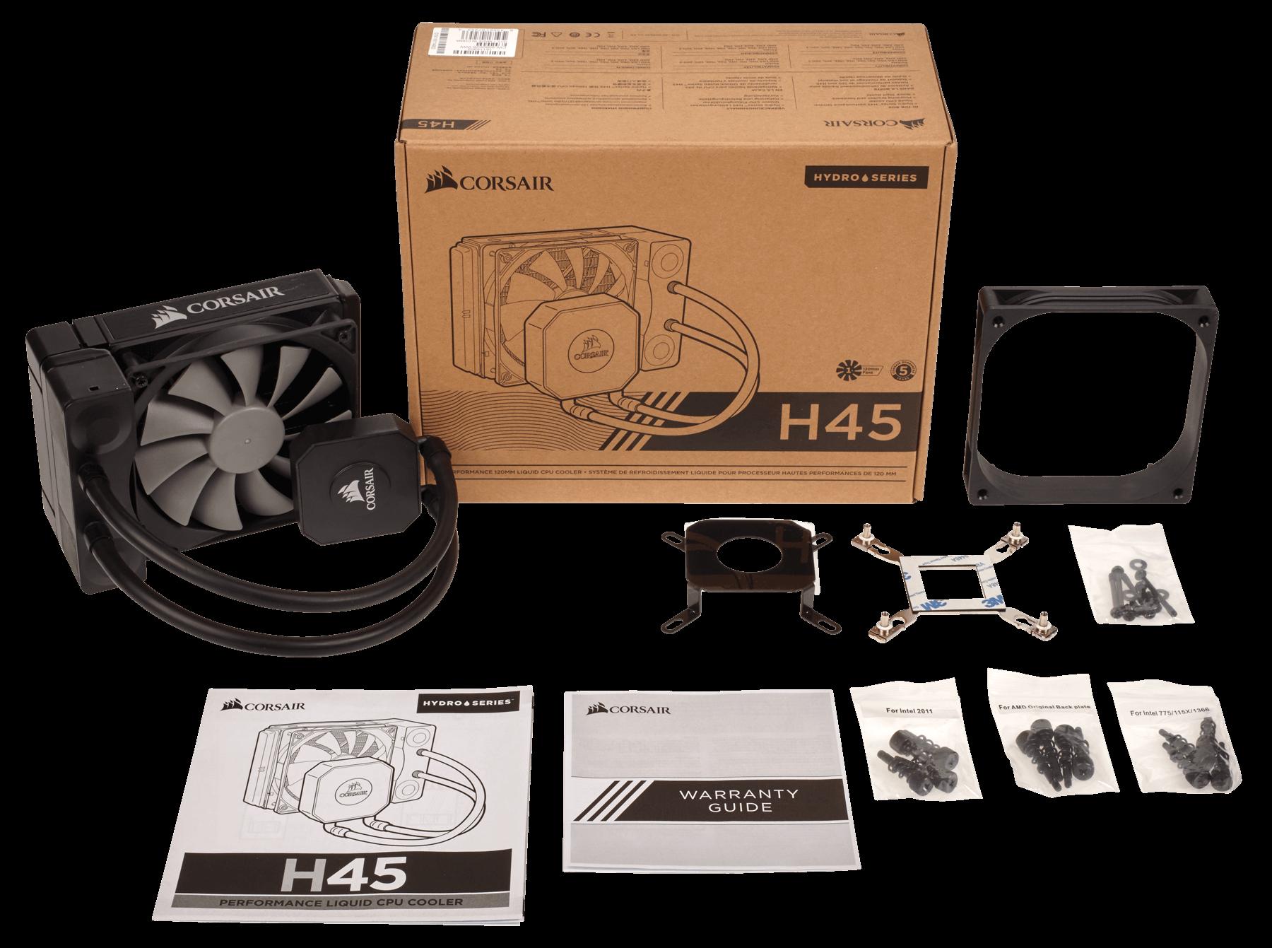 TẢN NHIỆT CORSAIR - CPU Hydro Cooler H45 - 120mm - Single - CW-9060028-WW