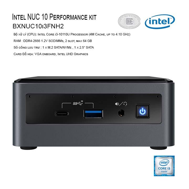 Máy tính Intel NUC 10 Performance kit - NUC10i3FNH (i3-10110U) (BXNUC10i3FNH2)