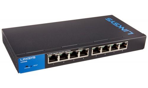 LINKSYS LGS308P - 8-Port Smart PoE+ Gigabit Switch
