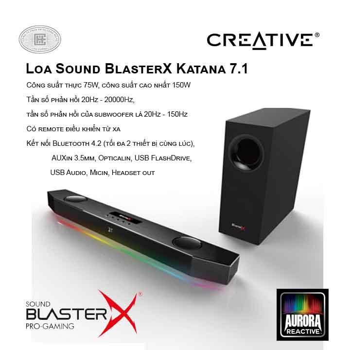 Loa Creative Sound BlasterX Katana 7.1