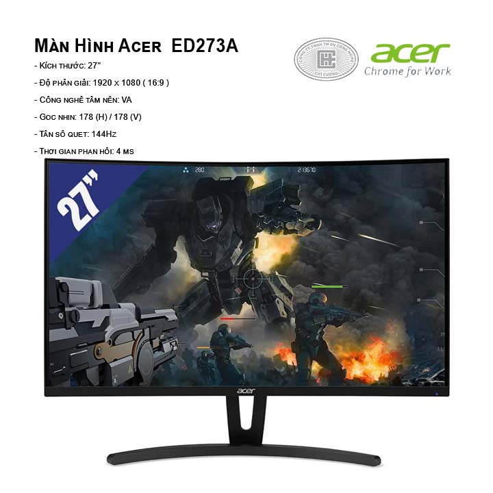 Màn hình Acer ED273A (1920x1080/VA/144Hz/4ms)