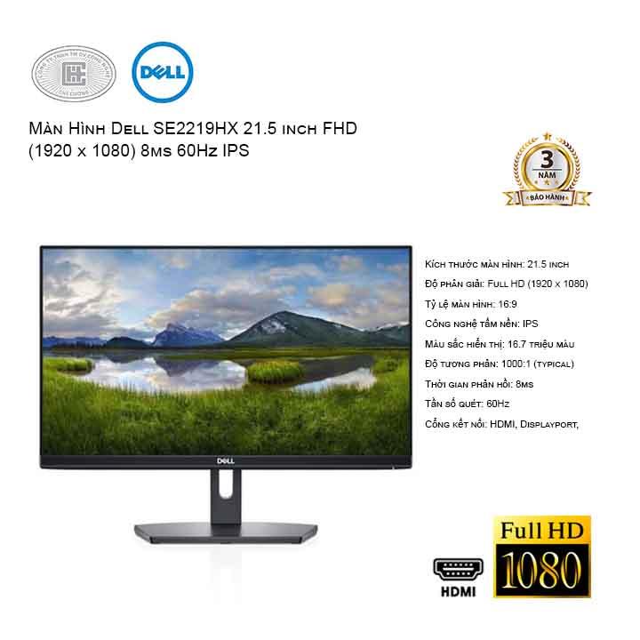 Màn hình DELL SE2219HX 21.5 inch FHD 60Hz - viền mỏng