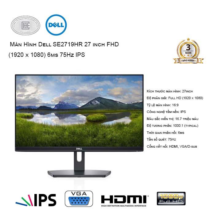 Màn hình Dell SE2719HR (1920x1080/IPS/75Hz/6ms)