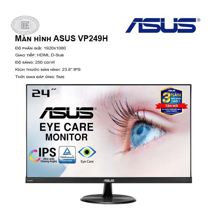 Màn Hình ASUS VP249H (FullHD/IPS/60Hz/5ms/2xLoa 1.5W)