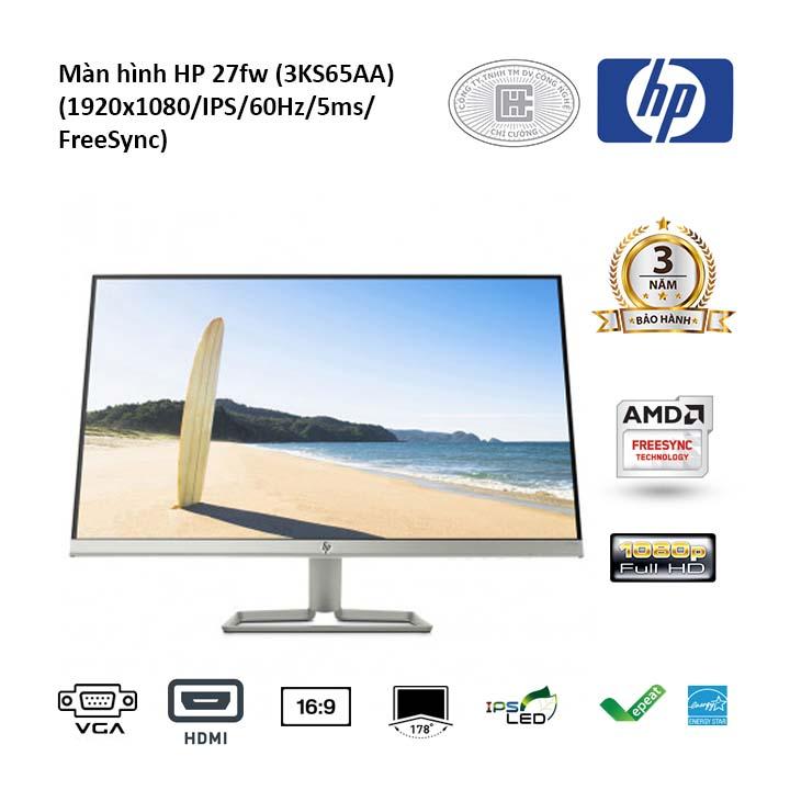 Màn hình HP 27FW 3KS65AA (1920x1080/IPS/60Hz/5ms/FreeSync)