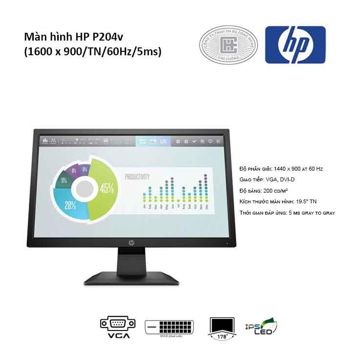 Màn hình HP P204v (1600 x 900/TN/60Hz/5ms)