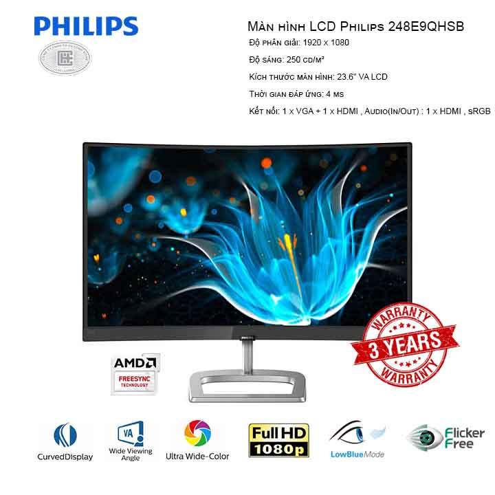 Màn hình LCD Philips 248E9QHSB (CONG)