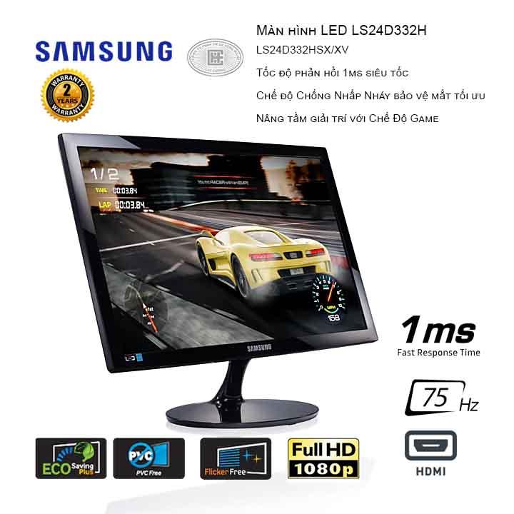Màn hình Samsung LS24D332HSX/XV 24inch FHD 75Hz