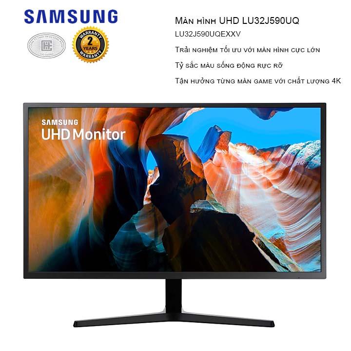 Màn hình Samsung UHD LU32J590UQEXXV  32 inch (3840 x 2160/VA/60Hz/4ms/Đen)