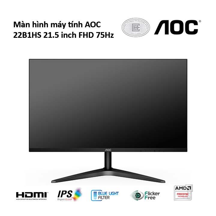 Màn hình AOC 22B1HS 21.5 inch FHD 75Hz