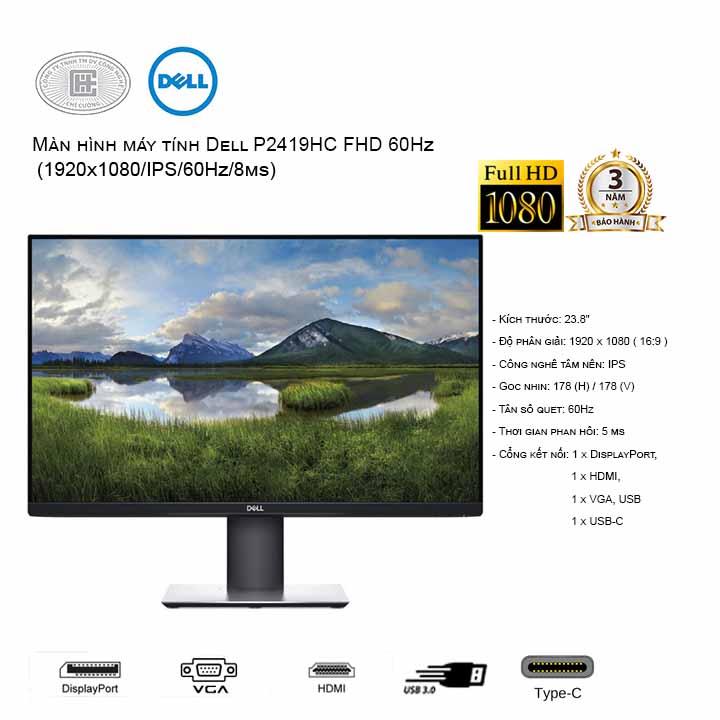 Màn hình Dell P2419HC  24 inch Full HD (USB Type-C)