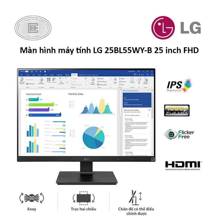 Màn Hình LG 25BL55WYB (25 inches/ 1920 x 1080/ IPS/ 5ms/ Đen)
