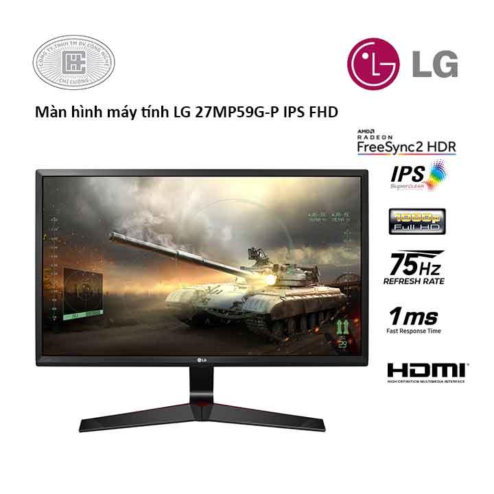 Màn Hình LG 27MP59G-P (27 inch/ 1920x1080/ IPS/ 75Hz/ 5ms/ FreeSync)