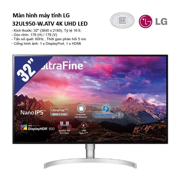 Màn hình LG 32UL950-W.ATV (3840 x 2160/60Hz/5 ms/FreeSync) 4K UHD LED