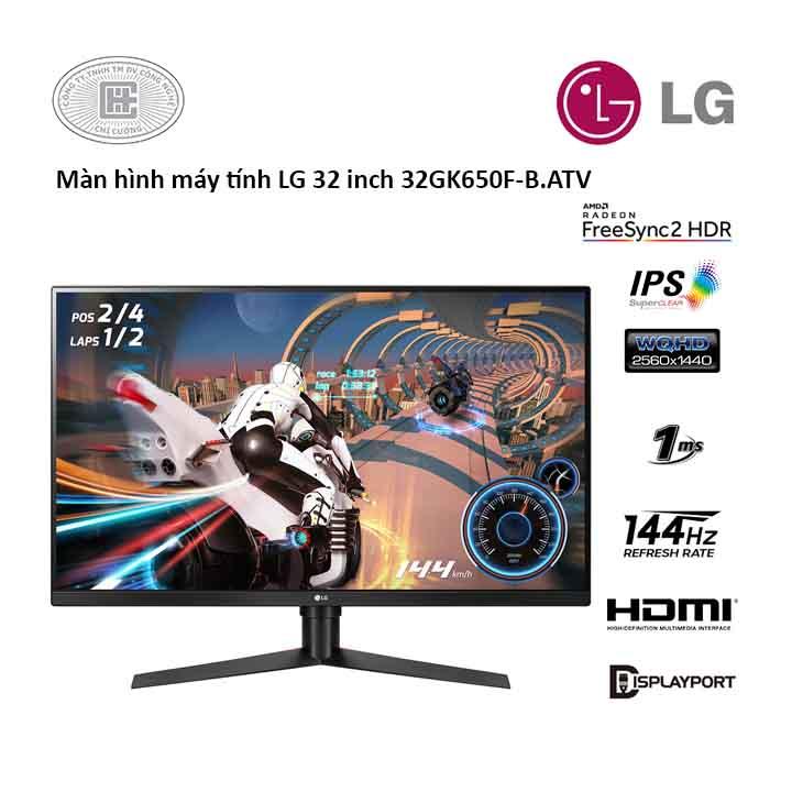 Màn hình LG 32GK650F-B.ATV (32 inch/ WQHD/ VA/ 144H/ 1ms)