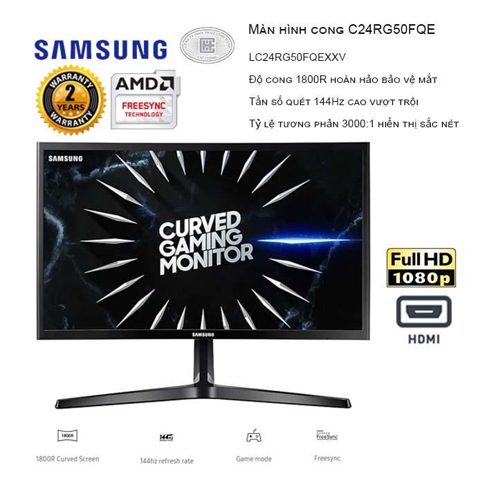 Màn hình Samsung LC24RG50FQEXXV 23.5inch FHD 144Hz Cong