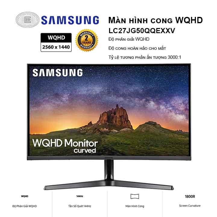 Màn hình Samsung LC27JG50QQEXXV (2560x1440/ VA/ 144Hz/ 4ms)
