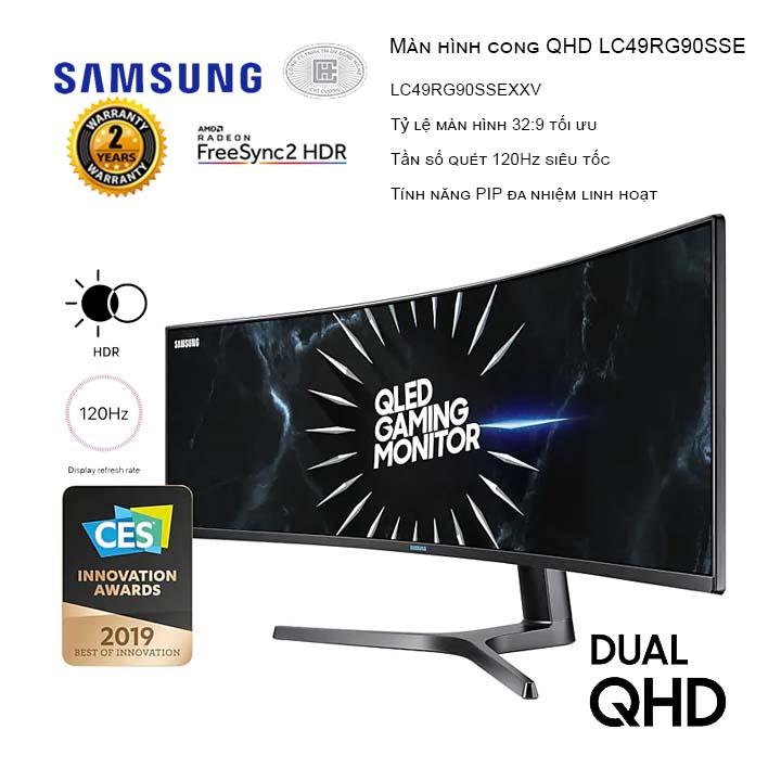 Màn hình Samsung LC49RG90SSEXXV 49inch QHD 120Hz Cong