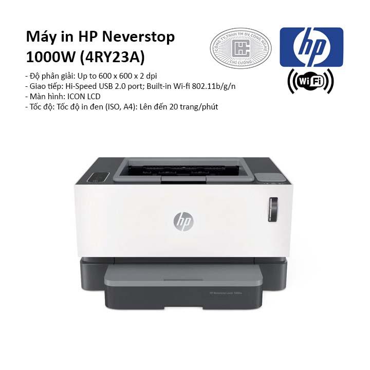 Máy in laser trắng đen HP Neverstop 1000W (4RY23A)