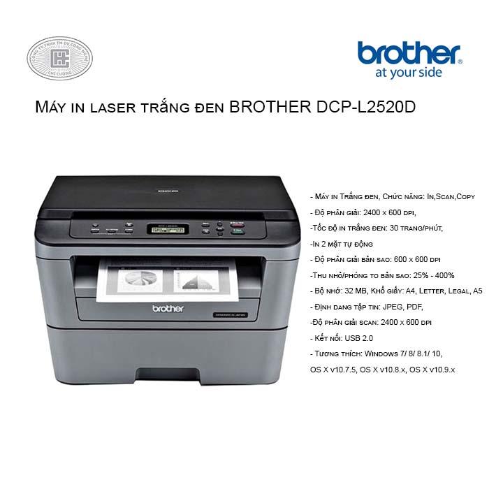 Máy in laser Brother DCP-L2520D đa chức năng  (mới về)