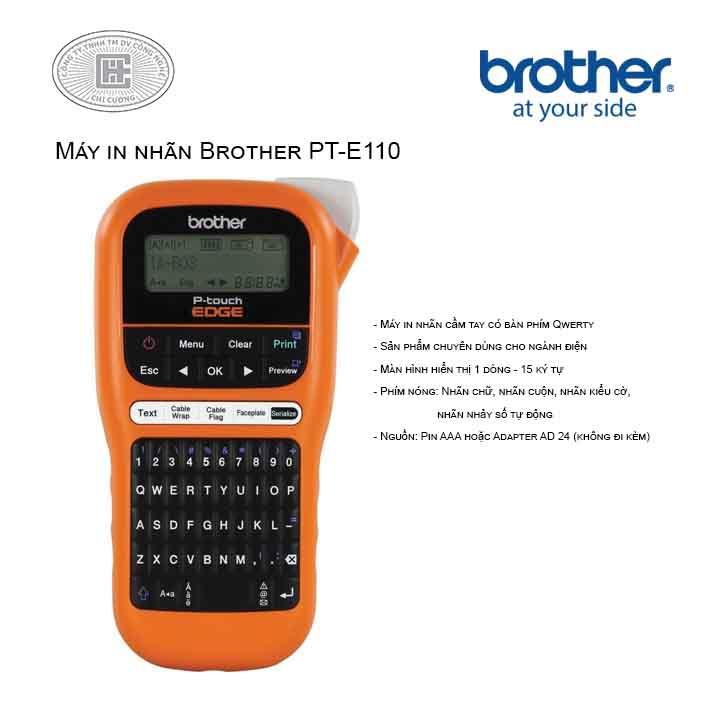 Máy in nhãn Brother PT-E110