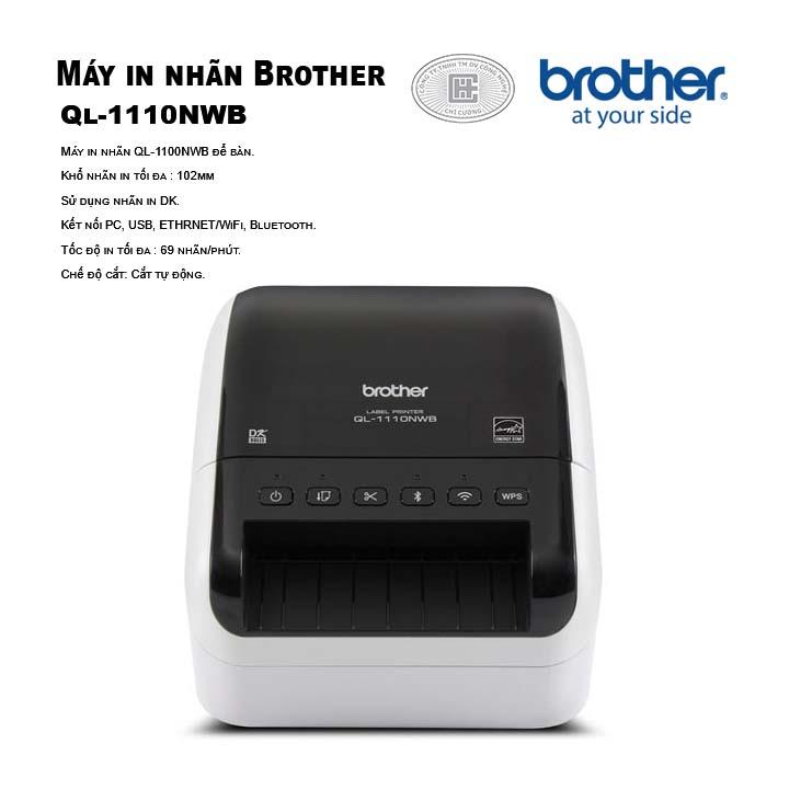 Máy in nhãn Brother QL-1110NWB