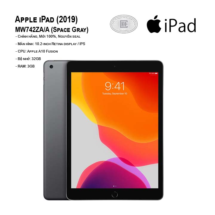 Máy tính bảng Apple iPad (2019) 10.2