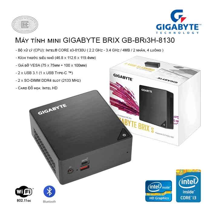 máy tính mini nuc GIGABYTE BRIX GB-BRi3H-8130