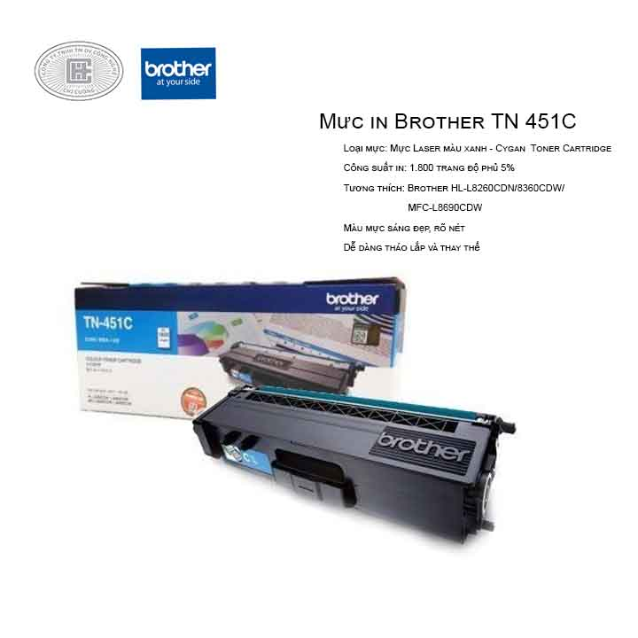 Mực in laser màu xanh Brother TN-451C (Cho Máy HLL-8260CDN, L8360CDW, MFC-8690CDW)