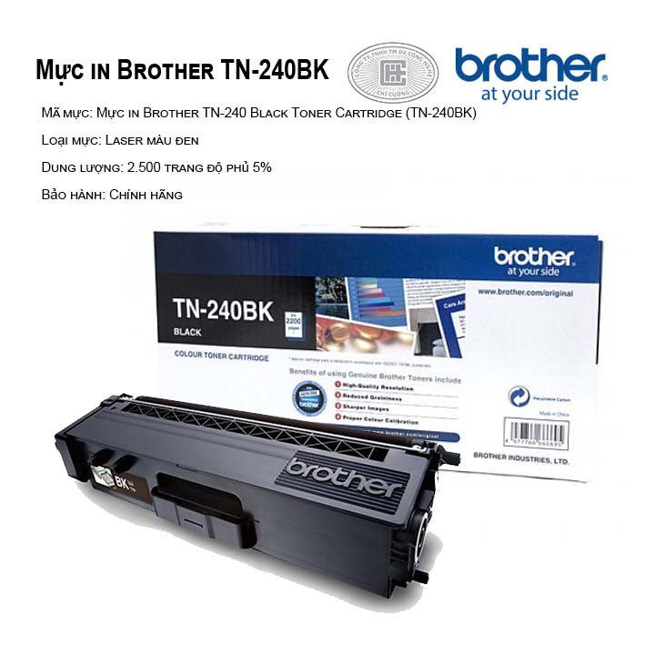 Mực in brother TN-240BK màu đen