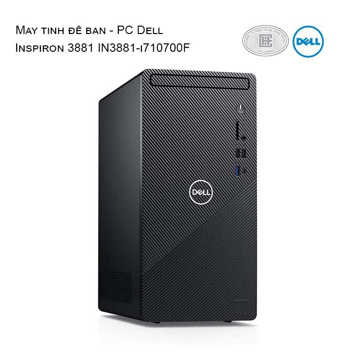 Máy tính để bàn Dell Inspiron 3881 i7 10700f /16gb/512gb/1gb