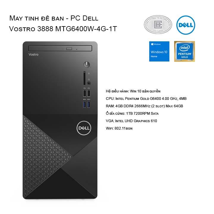 Máy tính để bàn - PC Dell Vostro 3888 MTG6400W-4G-1T
