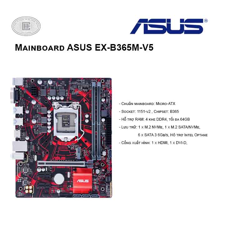 Mainboard ASUS EX-B365M-V5