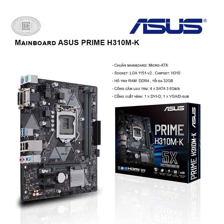 Mainboard ASUS PRIME H310M K