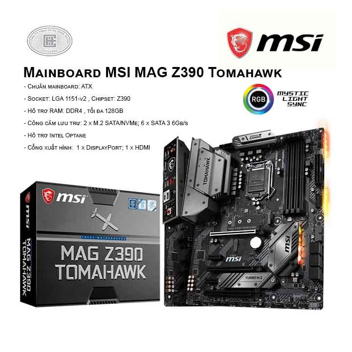 Mainboard MSI MAG Z390 Tomahawk