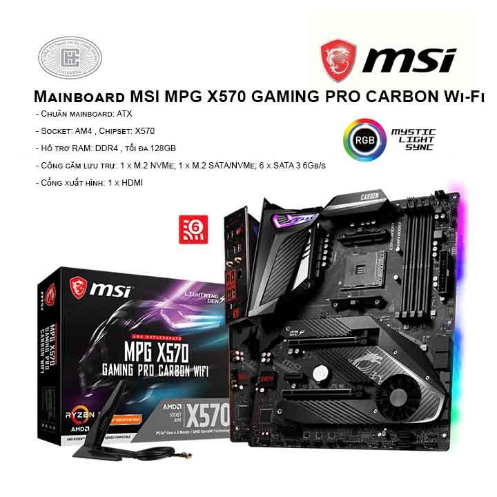Mainboard MSI X570 Gaming Pro Carbon Wi-fi - Socket AM4